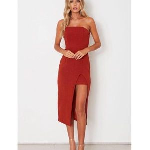 White Fox Boutique Rust True Love Midi Dress